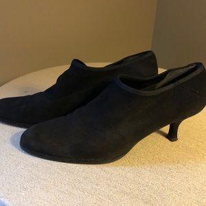 Stuart  Weitzman black suede booties